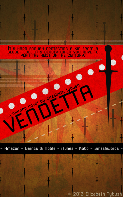 Promotional poster for Vendetta.  © Elizabeth Tybush